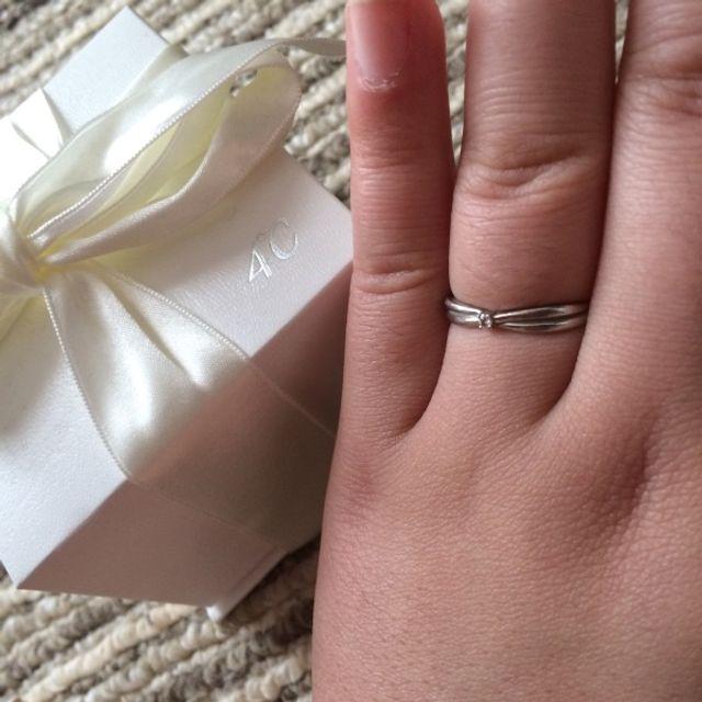 購入時の箱と購入の指輪
