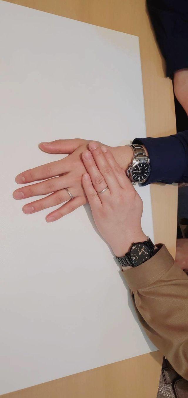 指輪着用時です。