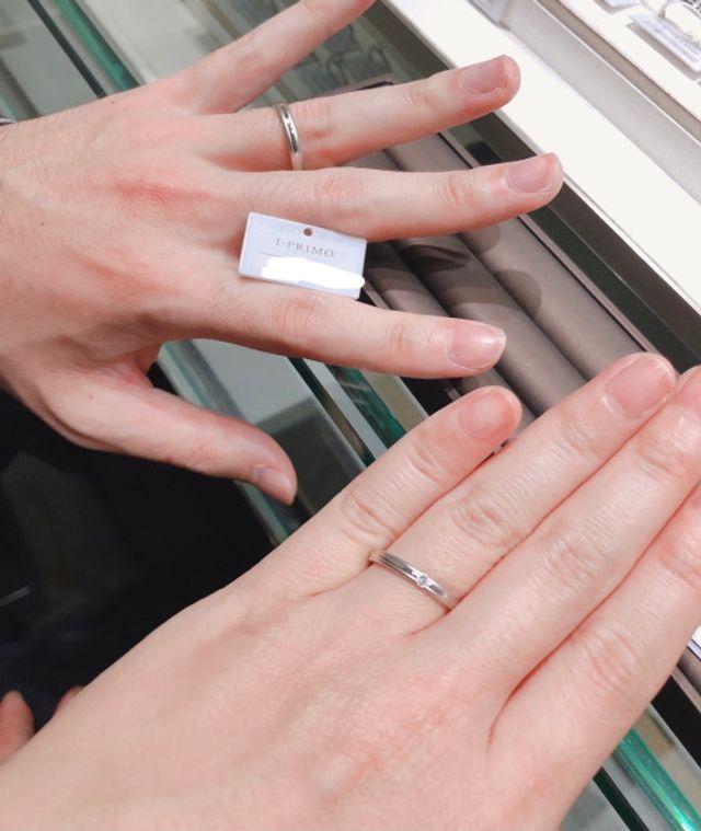 シンプルで可愛らしい指輪