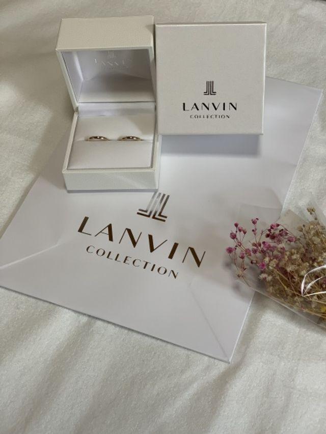 ランバンはとても綺麗でシンプルで良い指輪です。