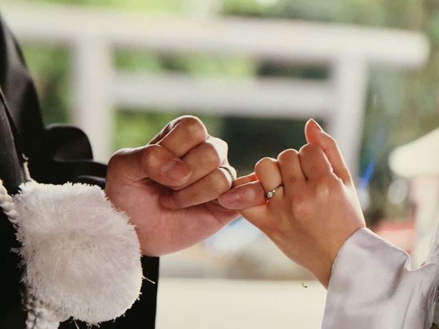 婚約指輪を和装の前撮りの時につけました!