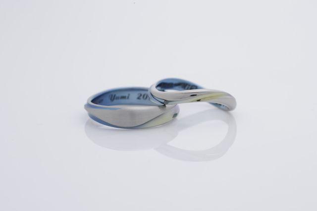 素敵な指輪。 他とは被らない二人だけの大切な指輪。