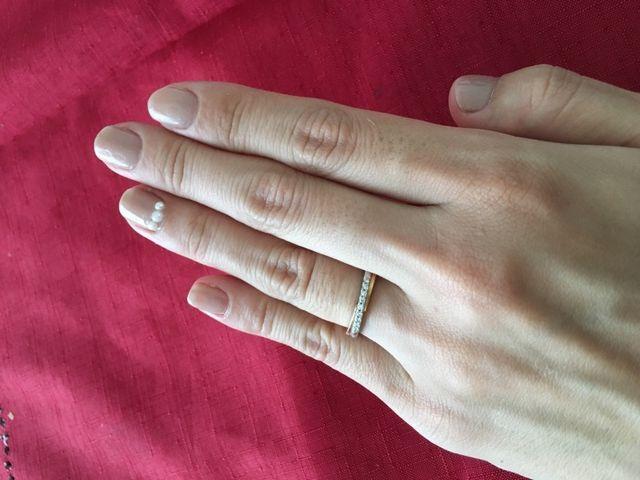 ダイヤモンドがキラキラ輝くお気に入りのリングになりました。