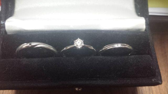 婚約指輪と一緒に作りました