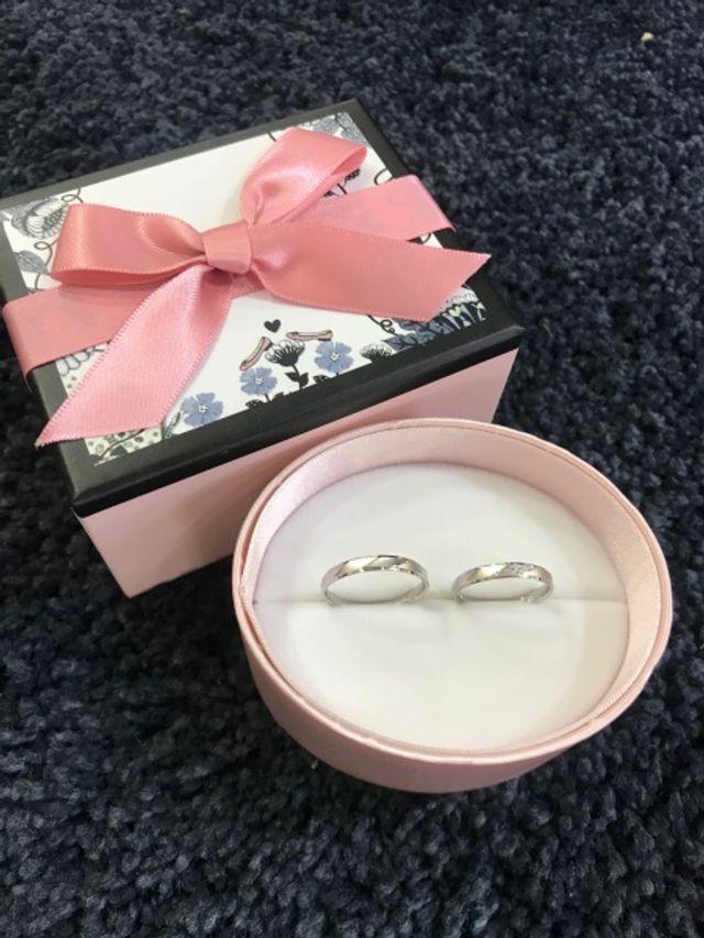 指輪のBOXも可愛いです