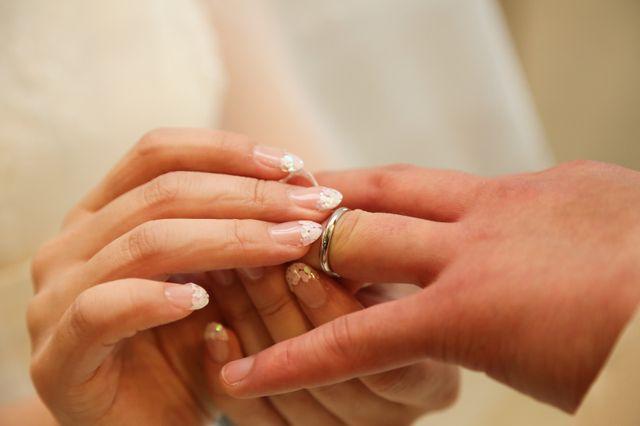指輪交換わたしからあなたへ。