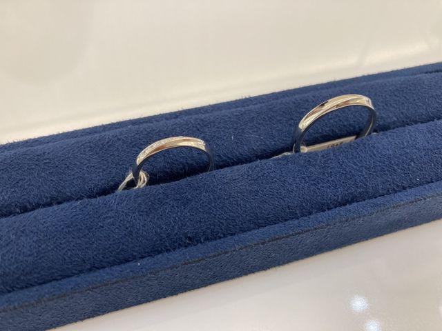 結婚指輪、とても綺麗なダイヤモンドが気に入っています。