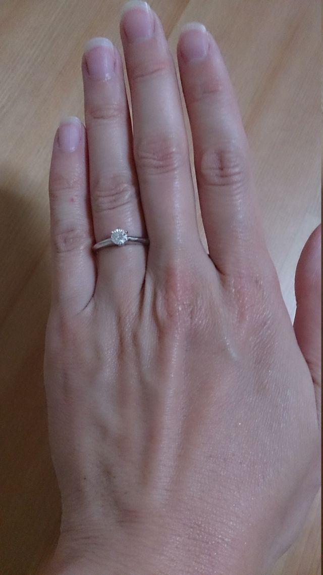 0.27カラットのダイヤモンド