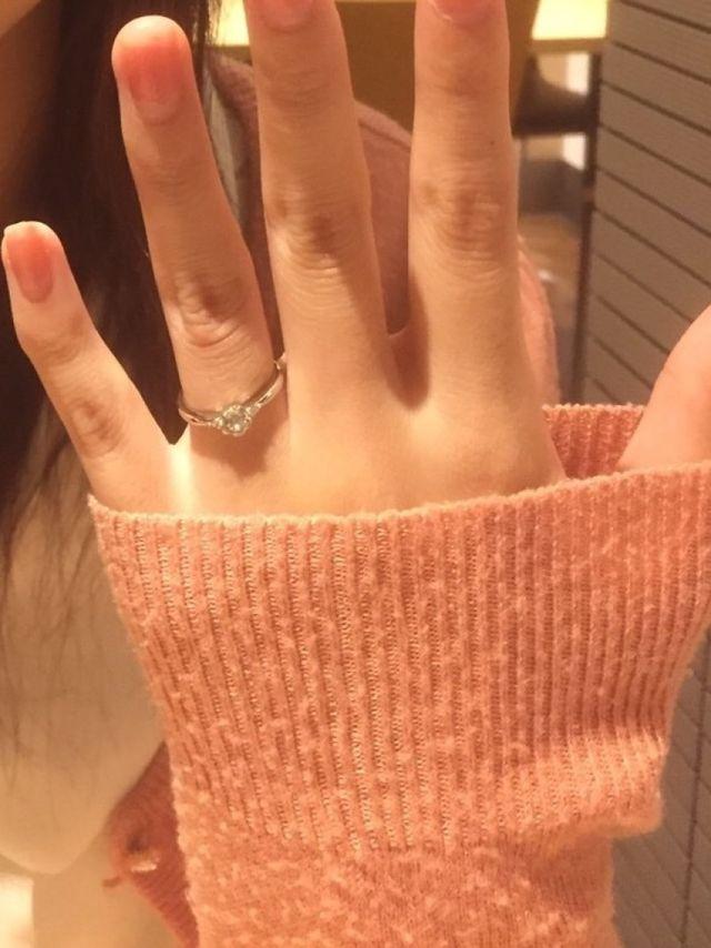 トレセンテの婚約指輪です。