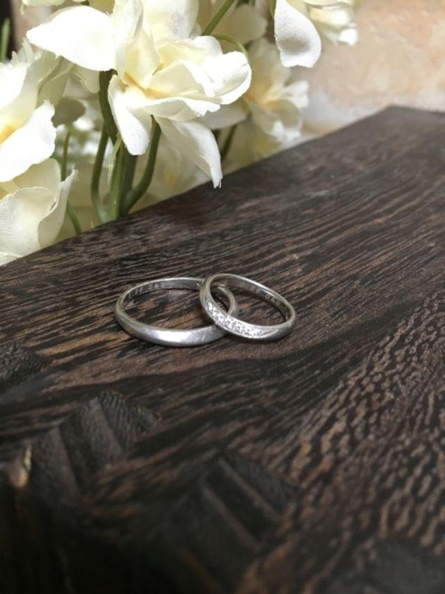 幸せな結婚指輪
