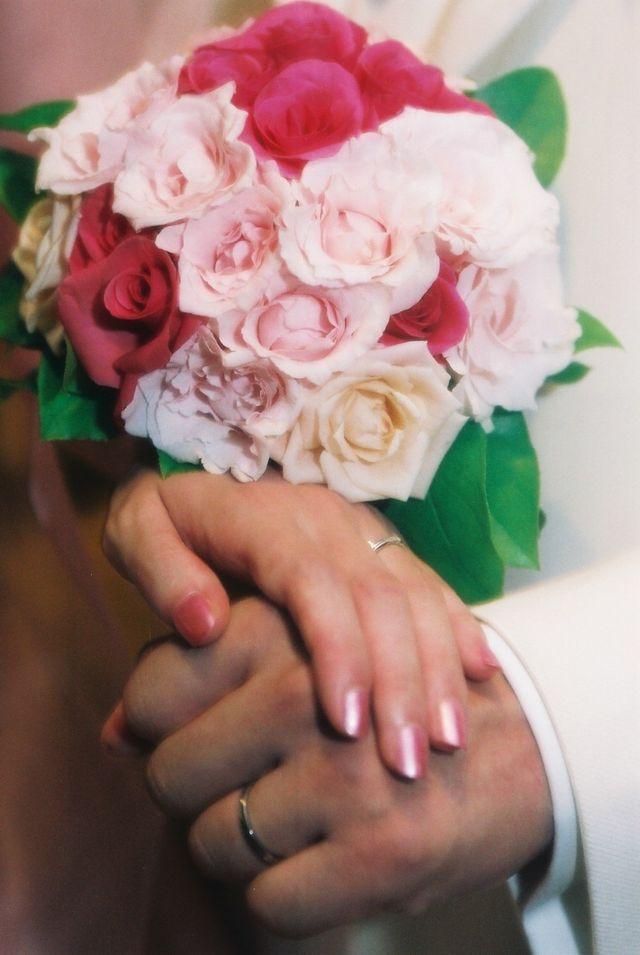 指輪ペアの写真です。