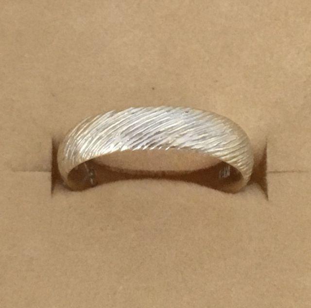 K18 グリーンゴールド ロジウムコーティング 斜線 マット