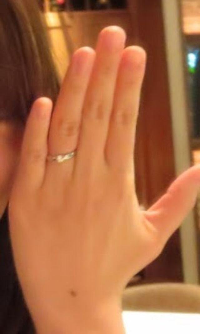 プロポーズされた時につけた指輪です