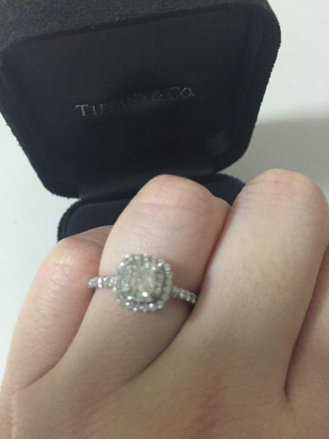 みんなにダイヤが大きいねと言ってもらえるデザインです!