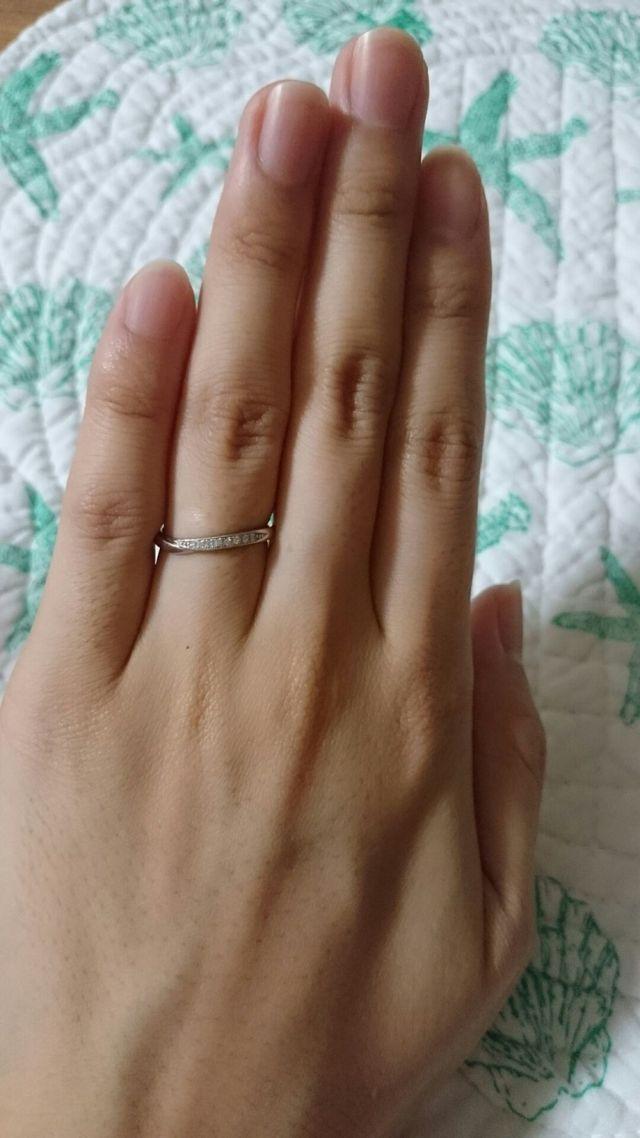 購入した結婚指輪です。