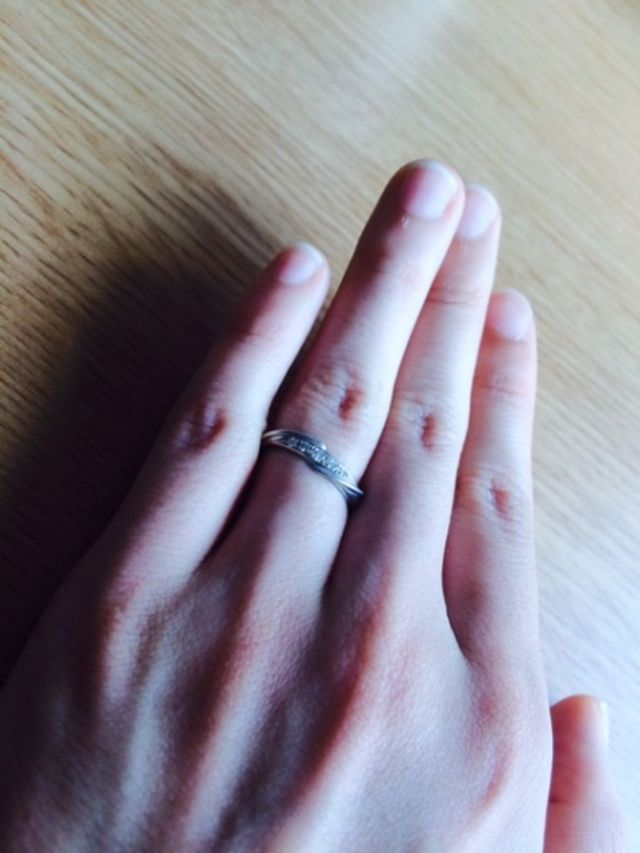 結婚指輪 合計0.06カラット
