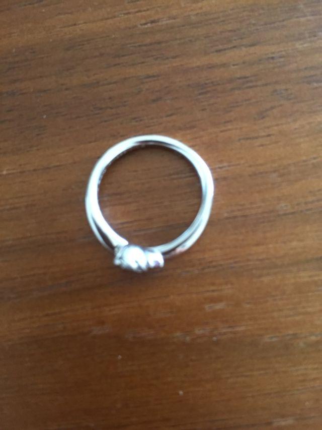 指輪の平置き。