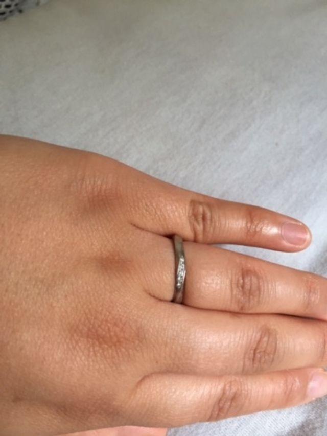 結婚指輪写真(妻)