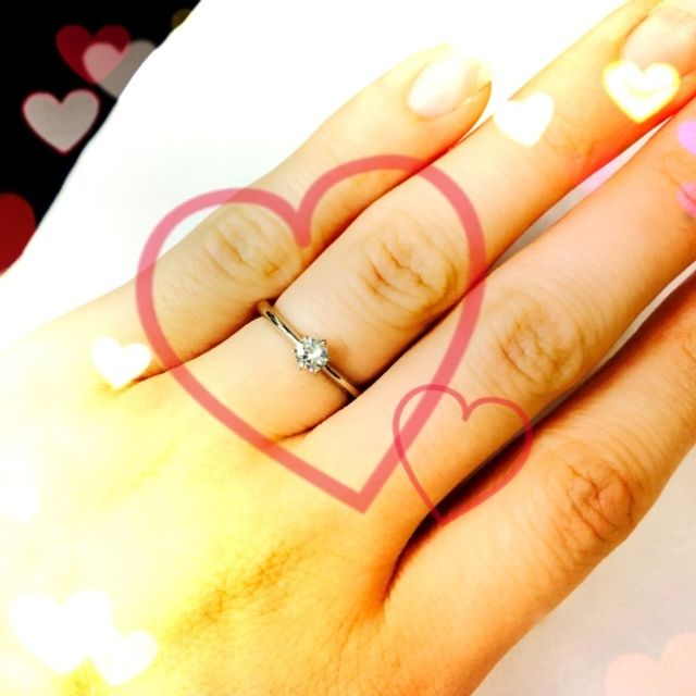 欲しかった婚約指輪をいただきました。