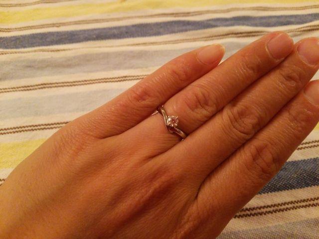 キラキラの婚約指輪