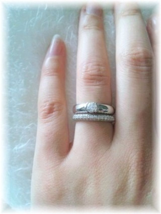 結婚指輪(他ブランド)との重ね付け