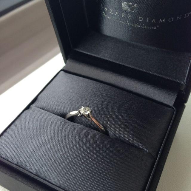 婚約指輪を貰った時に撮った写真