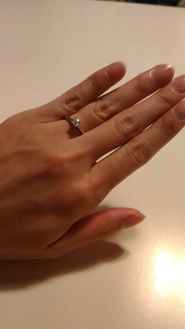 主人にもらったカルティエの婚約指輪