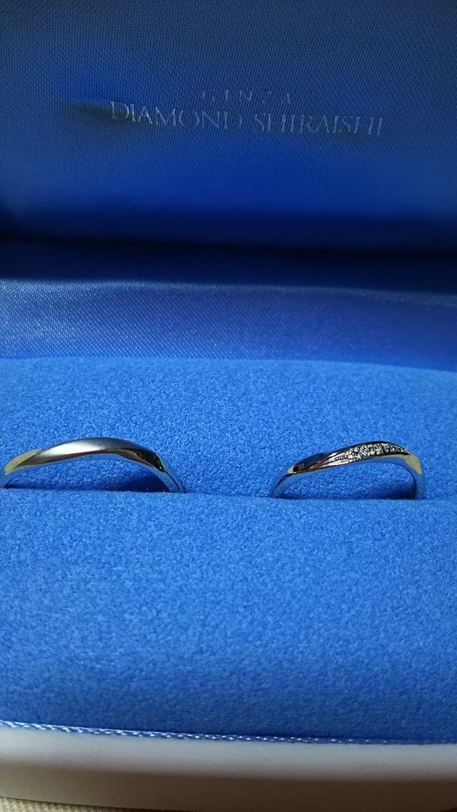 同じデザインのリング。