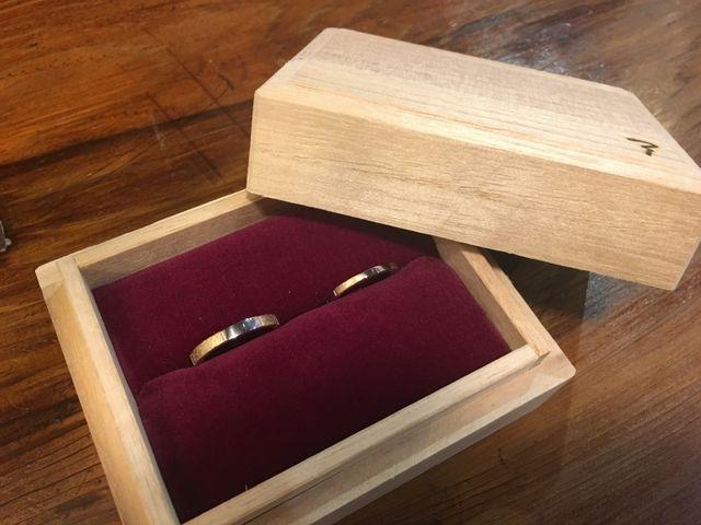 出来上がった結婚指輪