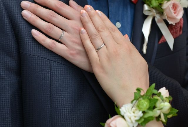 4℃結婚指輪(結婚式着用)