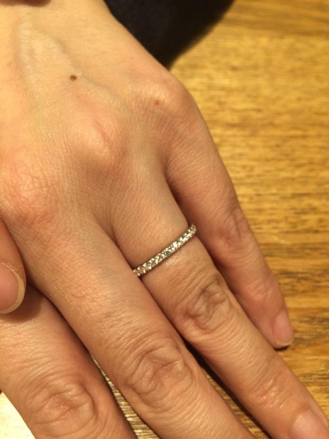 素敵な婚約指輪でした