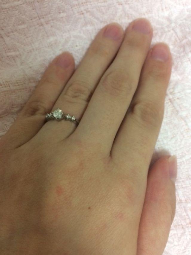 上から見た指輪
