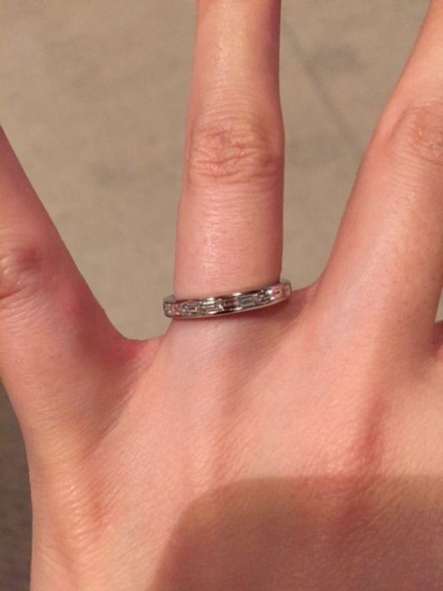 エクセルコ ダイヤモンドのハーフエタニティ