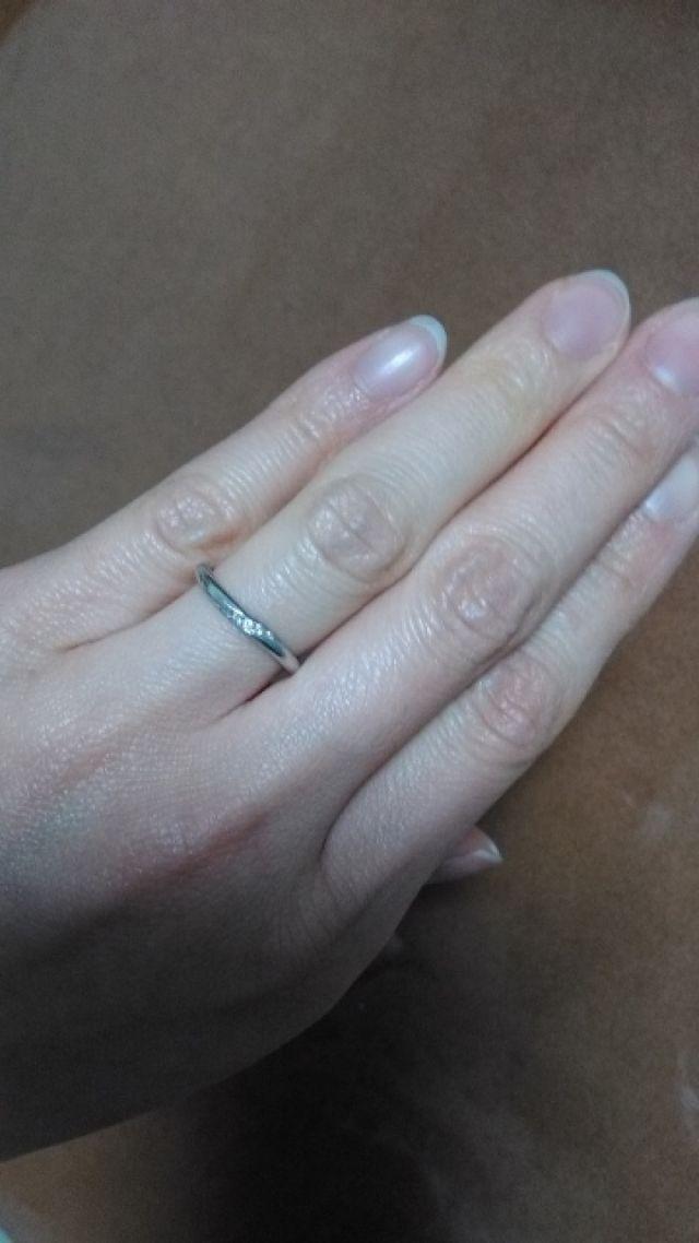 ことのはの結婚指輪です