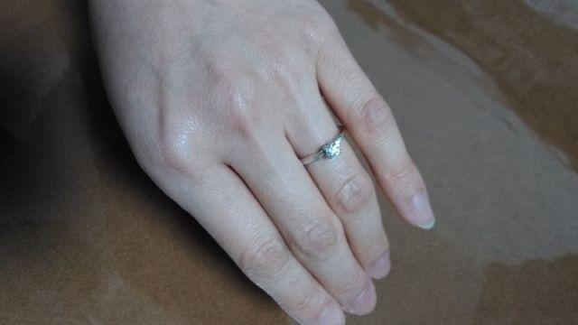 ことのはの婚約指輪です