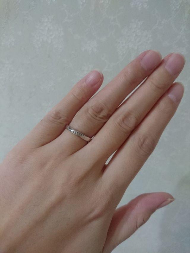 主人に購入してもらった思い出の婚約指輪