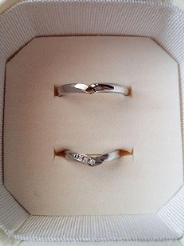 2人で決めた結婚指輪です。