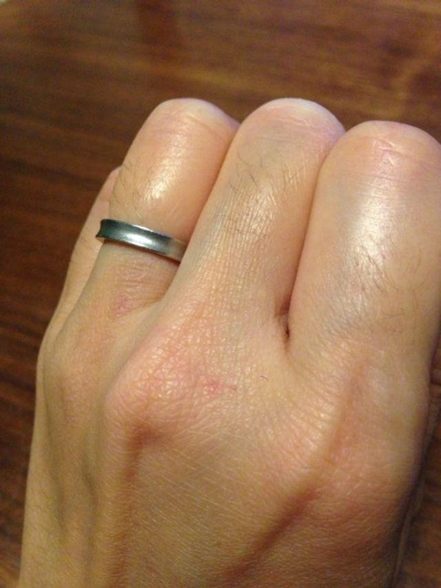 結婚指輪・妻・プラチナ