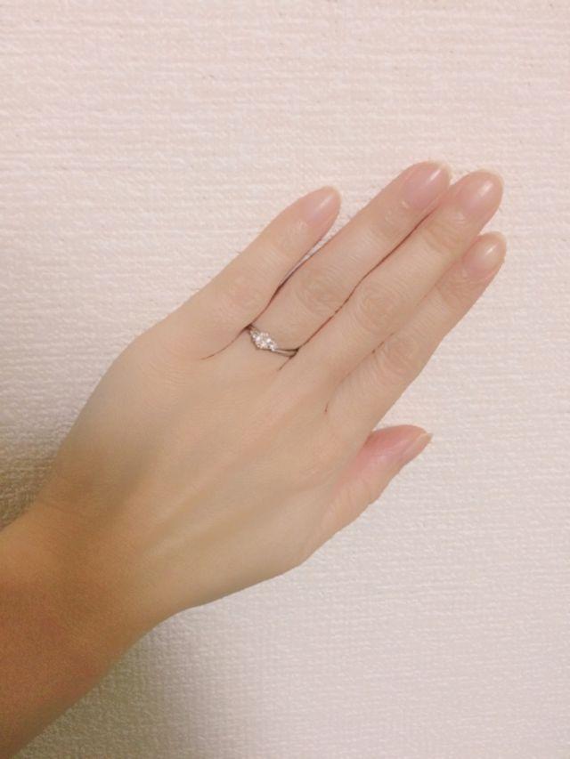 婚約指輪もらいました♡