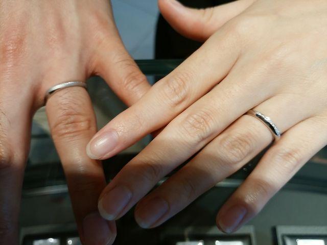 キレイなミル打ちが施された、ステキな指輪になりました!