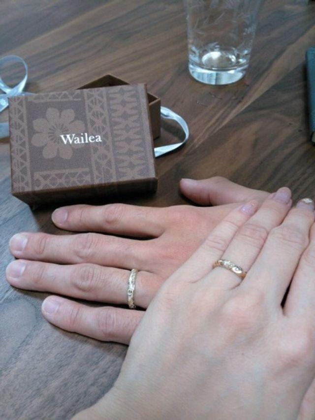 入籍日に自宅で指輪交換しました