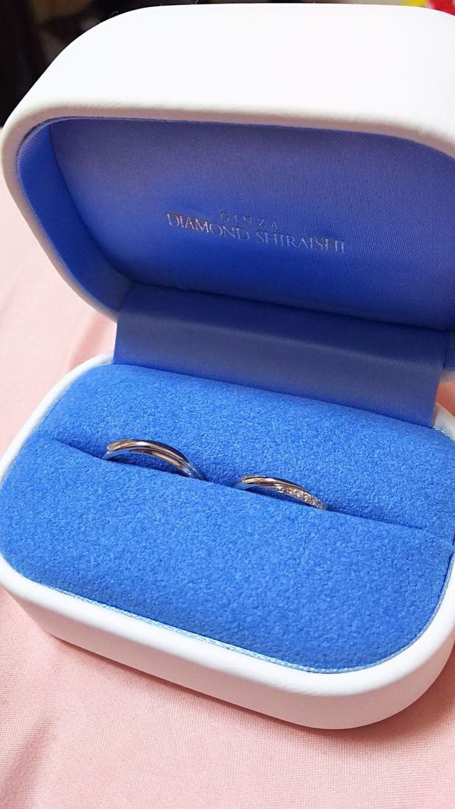 購入した結婚指輪