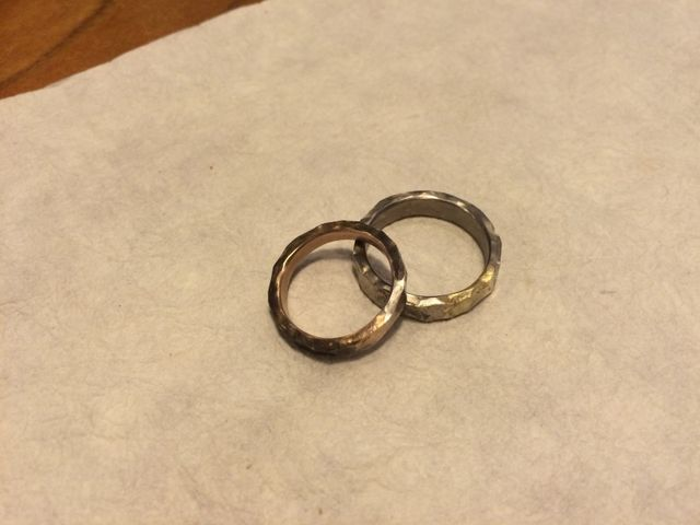 仕上げ前の最終確認のリング。これから刻印と石が入ります。