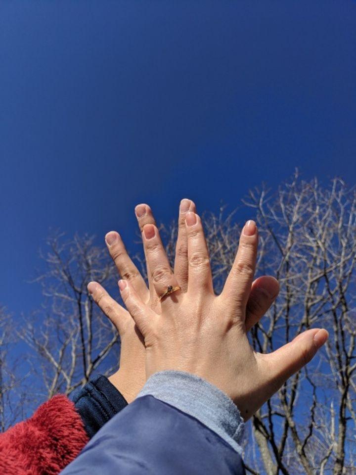 【しなのの口コミ】 2人の出会いと2人の大好きな土地である信州安曇野にちなんだリングと出会…