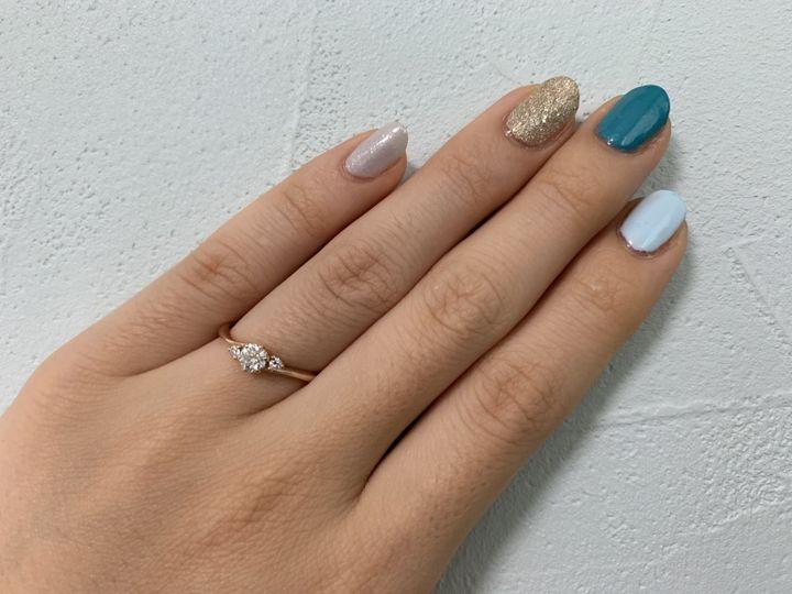 【SANJI(サンジ)の口コミ】 指が短く関節がゴツゴツしているので、ストレートの指輪がなんとなく浮い…