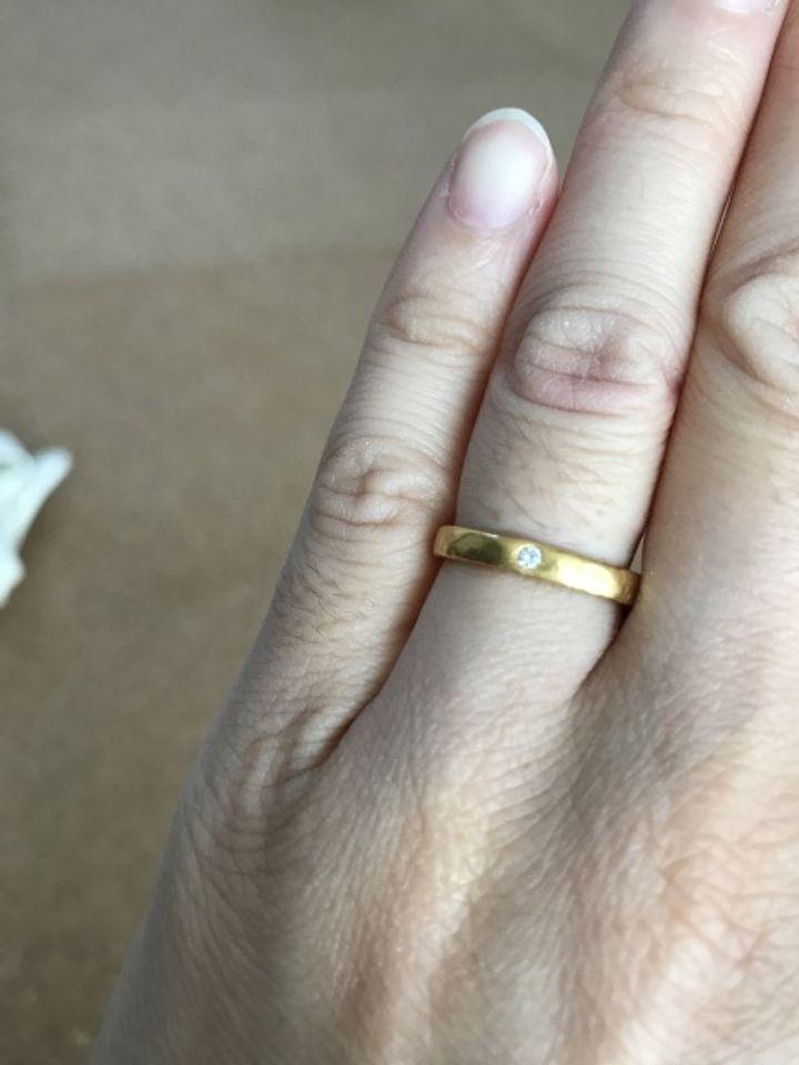 【市松の口コミ】 ダイヤの付いたいわゆる一般的な婚約指輪が嫌で、普段使いもしたかったの…