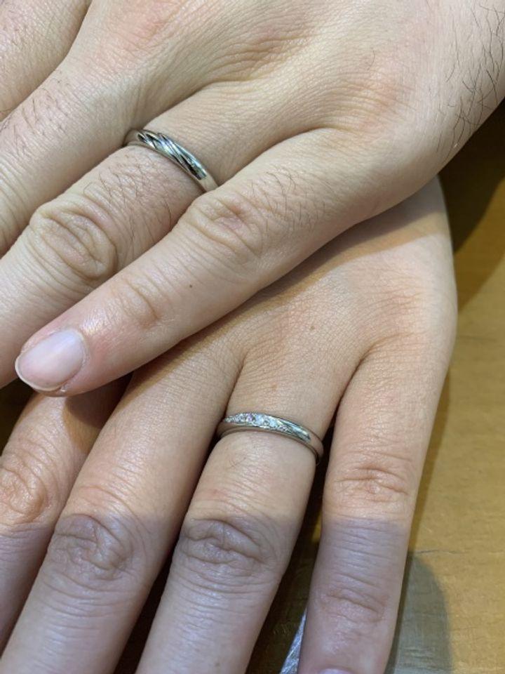 【Pink Dolphin Diamond(ピンクドルフィンダイヤモンド)の口コミ】 シンプルな指輪が良くて、探していたところその中でピックダイヤモンドが…