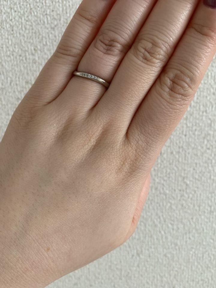 【JEWELRY  KAMATA(ジュエリーかまた)の口コミ】 わたしは、指が太いため指輪に抵抗がありそれほど欲しいとは思いませんで…