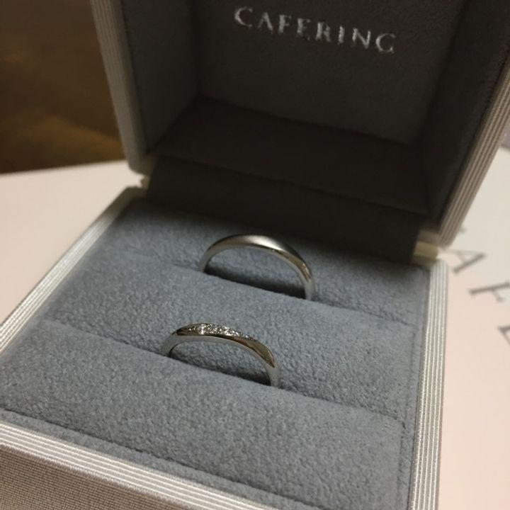 【CAFERING(カフェリング)の口コミ】 色々なブランドの指輪を試着させてもらった中で、つけ心地が一番良かった…