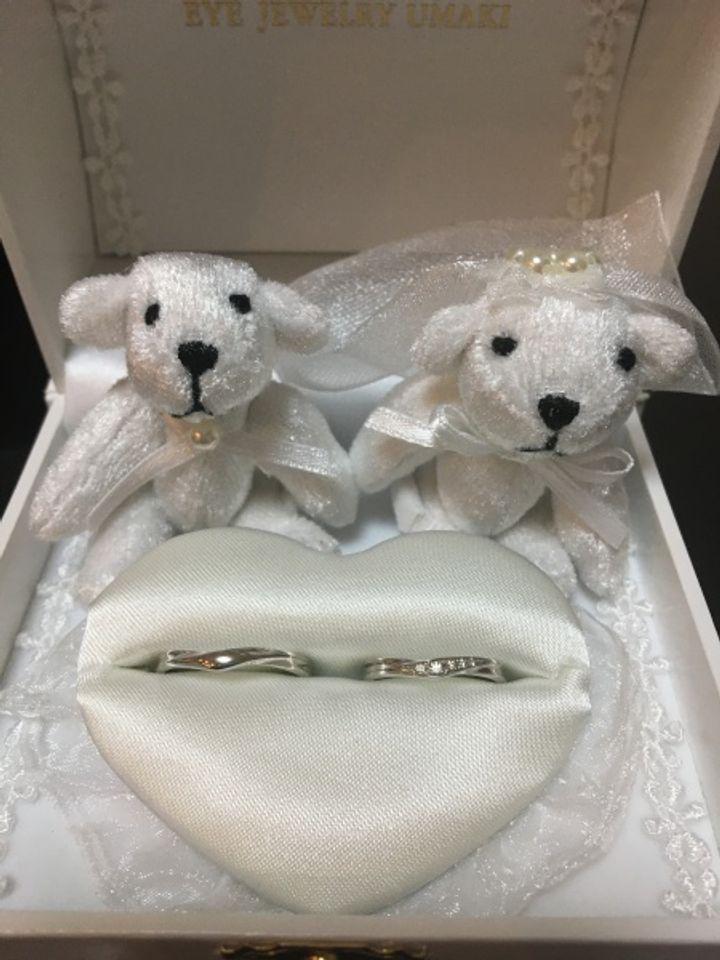 【EYE JEWELRY UMAKI(アイジュエリー ウマキ)の口コミ】 指輪をつけると指が綺麗に見えるように思い、見に行ったその日に決めまし…